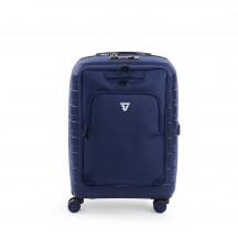 Roncato D-Box Zestaw walizka mała i torba na laptopa granatowa