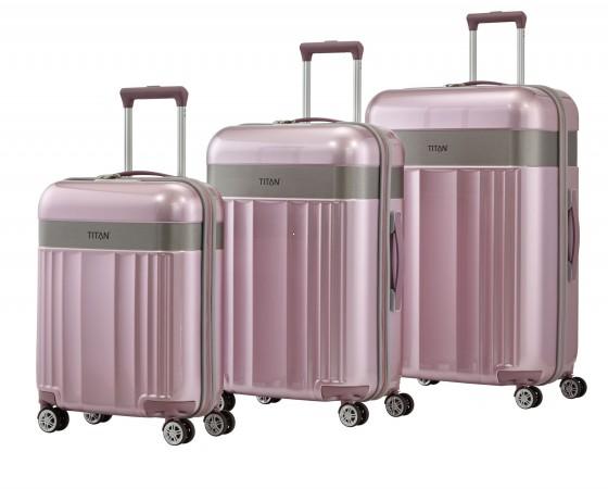 Titan Spotlight Komplet 3 walizek różowych