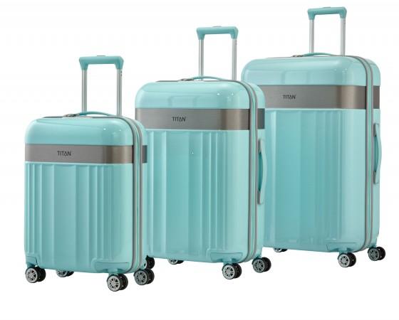 Titan Spotlight Komplet 3 walizek turkusowych