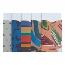 Pacsafe RFIDsleeve Zestaw 5 sztuk - Etui chroniące karty kredytowe kolorowe
