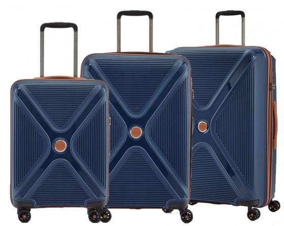 Titan Paradoxx Komplet 3 walizek niebieskich