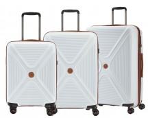 Titan Paradoxx Komplet 3 walizek białych