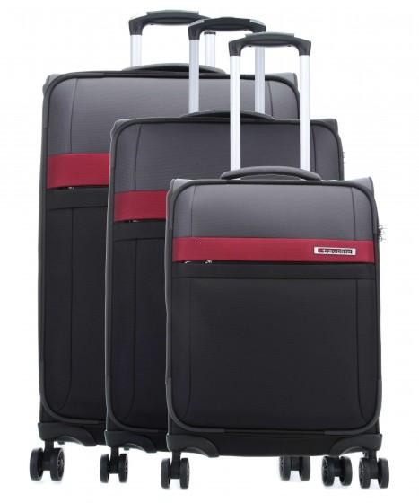 Travelite Stream Komplet 3 walizek czarnych