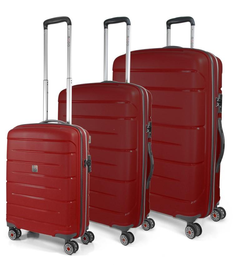 ee286e0285dc Modo by Roncato Starlight 2.0 Komplet 3 walizek czerwony ...