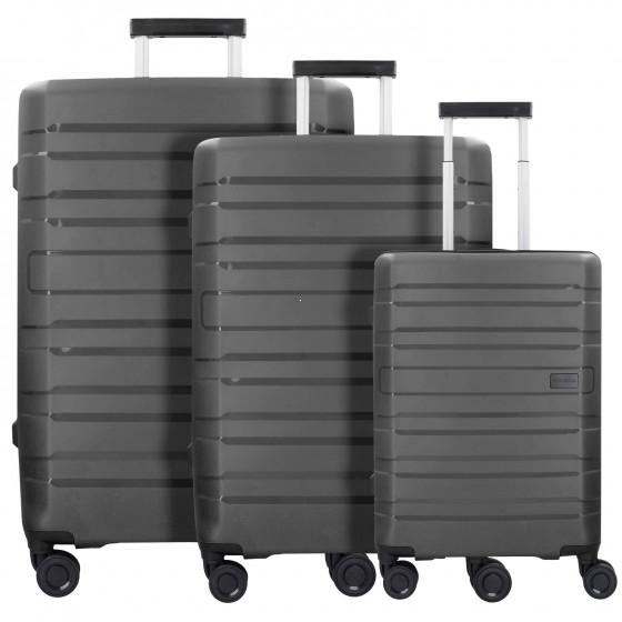 Travelite Kosmos Komplet 3 walizek czarnych