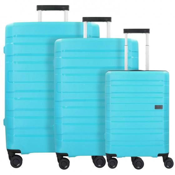 Travelite Kosmos Komplet 3 walizek turkusowych