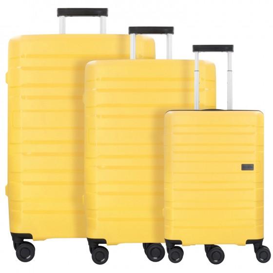 Travelite Kosmos Komplet 3 walizek żółtych