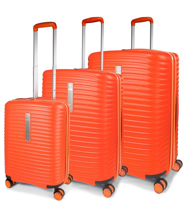 5389c69ee42f Modo by Roncato Vega Komplet 3 walizek pomarańczowy ...