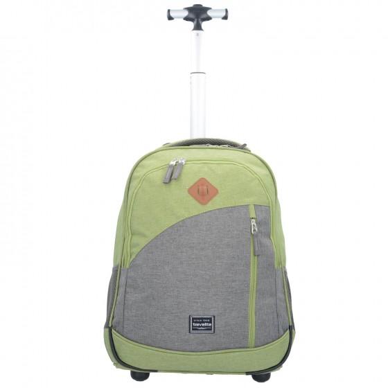 Travelite Basics Plecak na kółkach podróżny zielony