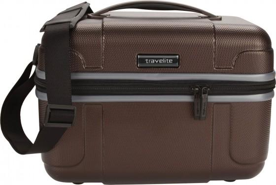 Travelite Vector Kuferek podróżny kosmetyczka brązowa