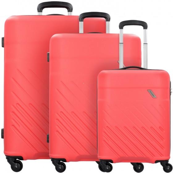 Travelite Vinda Komplet 3 walizek czerwonych