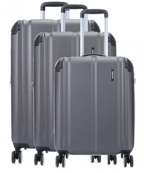 Travelite City Komplet 3 walizek antracytowych
