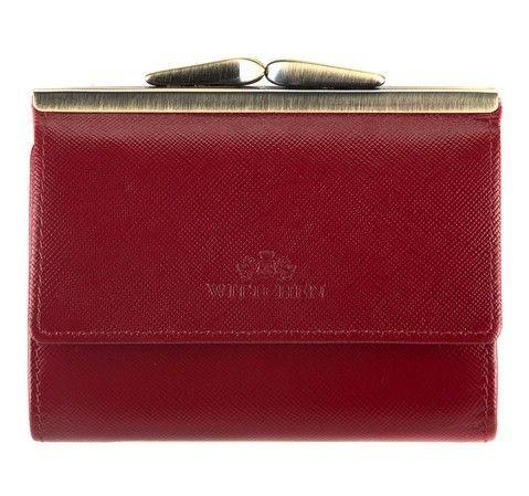 Portfel portmonetka damska skórzana średniej wielkości marki Wittchen z kolekcji 13 - kolor czerwony