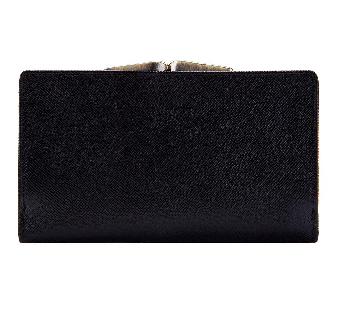 530ab25154c5f Portfel portmonetka damska skórzana średniej wielkości marki Wittchen z  kolekcji 13 - kolor czarny ...