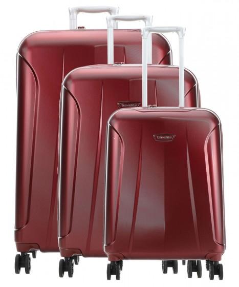 Travelite Elbe Komplet 3 walizek czerwonych