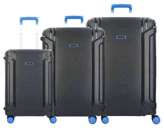 Travelite Sonic Komplet 3 walizek czarnych