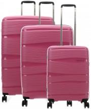 Travelite Motion Komplet 3 walizek różowych