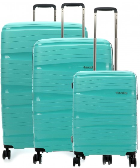 Travelite Motion Komplet 3 walizek miętowych