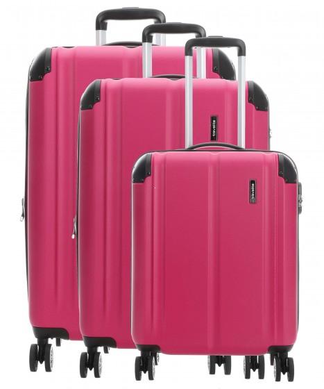 Travelite City Komplet 3 walizek różowych