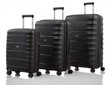 Titan Highlight Komplet 3 walizek czarnych
