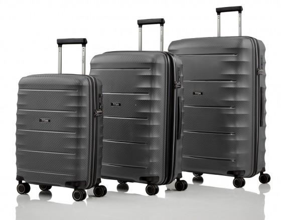Titan Highlight Komplet 3 walizek antracytowych