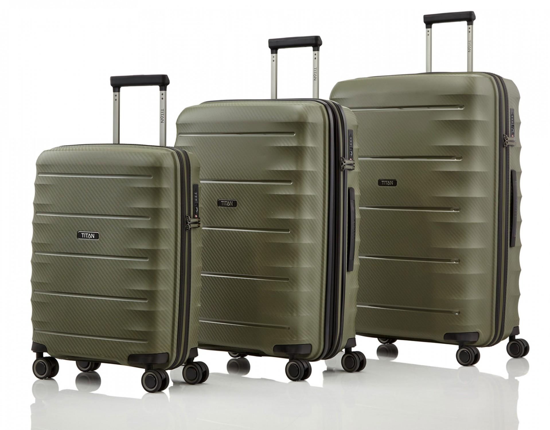 14f5a18d52de3 Titan Highlight Komplet 3 walizek khaki Walizki i torby podróżne ...