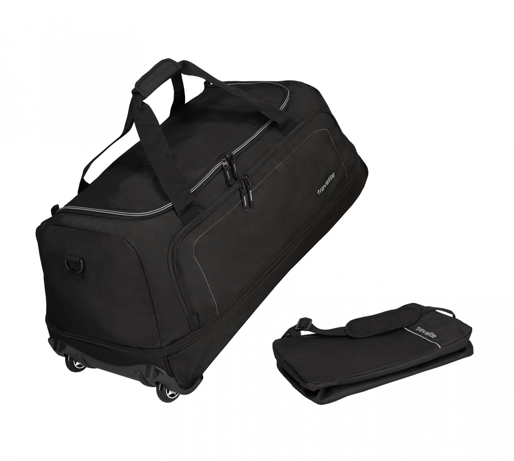 4e22de9e9c582 Travelite Basics Torba podróżna na kółkach składana czarna Walizki i ...