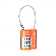 Samsonite Luggage Accessories Kłódka z linką szyfrowa z TSA pomarańczowa