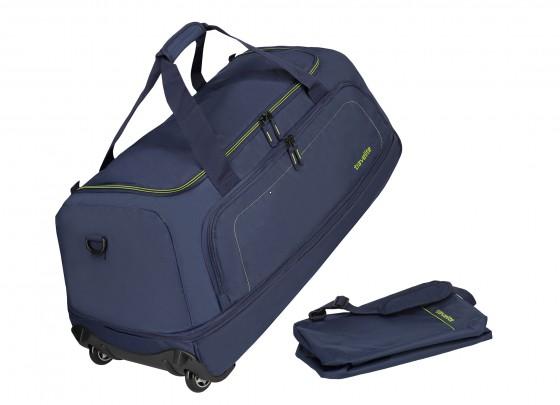 Travelite Basics Torba podróżna na kółkach składana granatowa
