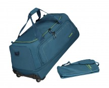 Travelite Basics Torba podróżna na kółkach składana turkusowa