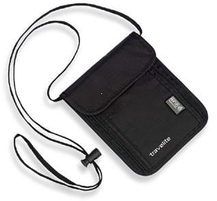 Travelite Accessories Sekretne etui na szyję RFID czarne