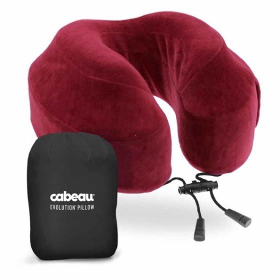 Cabeau Evolution Poduszka podróżna termoplastyczna bordowa