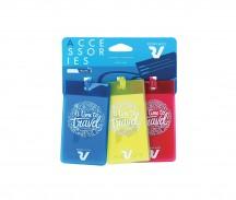 Roncato Accessories Identyfikatory podróżne zestaw 3 szt. kolorowe