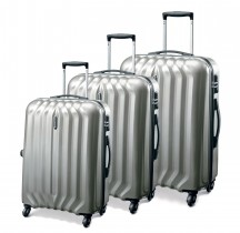 Carlton Sonar Komplet 3 walizek srebrnych