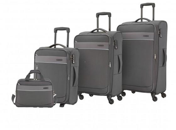 Travelite Delta Komplet 3 walizek i torba podręczna antracytowy