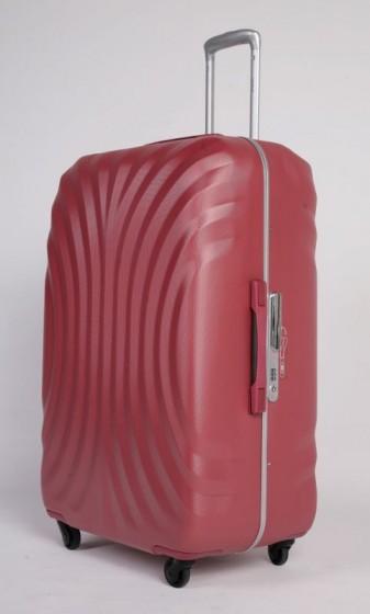 Duża walizka podróżna twarda, 4 kółka, TSA, marki VERUS z kolekcji Montreal - kolor czerwony (jasna malina)
