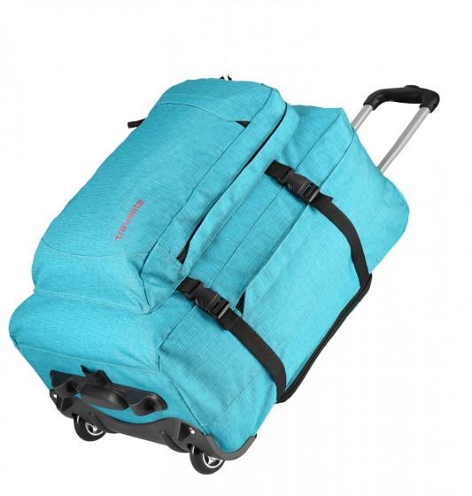 Travelite Basics Torba podróżna na kółkach, Plecak turkusowy
