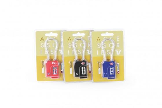Roncato Accessories Kłódka linka na szyfr TSA - 1 sztuka - mix kolorów