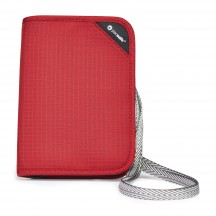 Pacsafe RFIDsafe V150 Portfel męski czerwony
