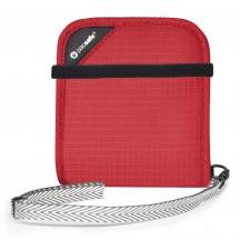 Pacsafe RFIDsafe V100 Portfel męski czerwony