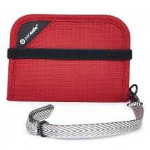 Pacsafe RFIDsafe V50 Portfel podróżny czerwony