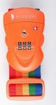 Puccini Pas do bagażu szyfrowy TSA kolorowy