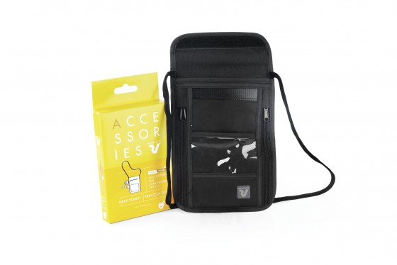 Roncato Accessories Sekretny portfel na szyję z RFID czarny