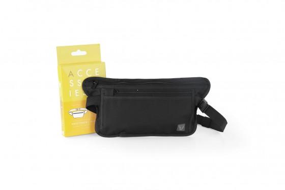 Roncato Accessories Sekretny portfel na pas z RFID czarny