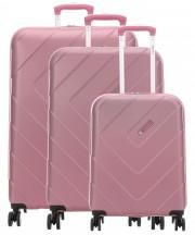 Travelite Kalisto Komplet 3 walizek różowych
