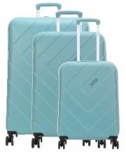 Travelite Kalisto Komplet 3 walizek turkusowych