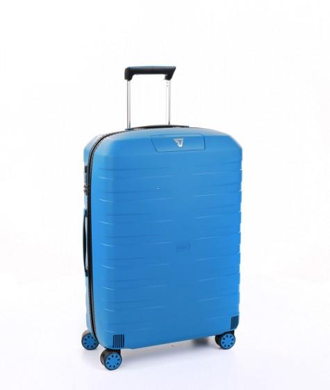 Roncato Box 4.0 Walizka średnia błękitna