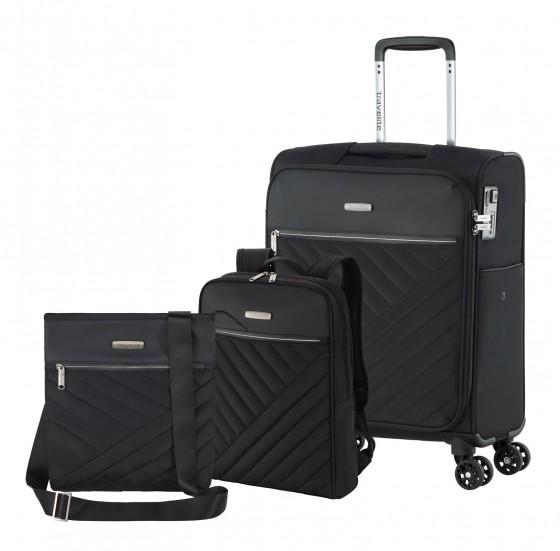 Travelite JADE Walizka mała, plecak, listonoszka czarna
